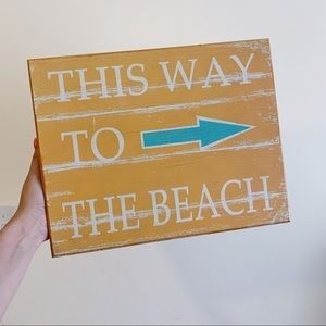 Other - This Way To The Beach Wood Sign